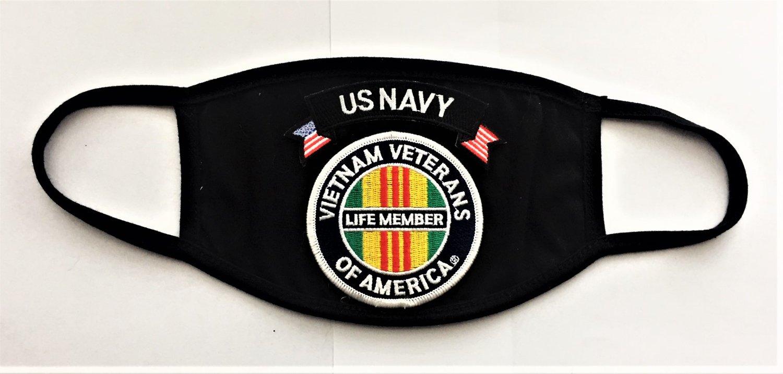 Image of Vietnam Veterans Of America Life Member US NAVY Face Mask