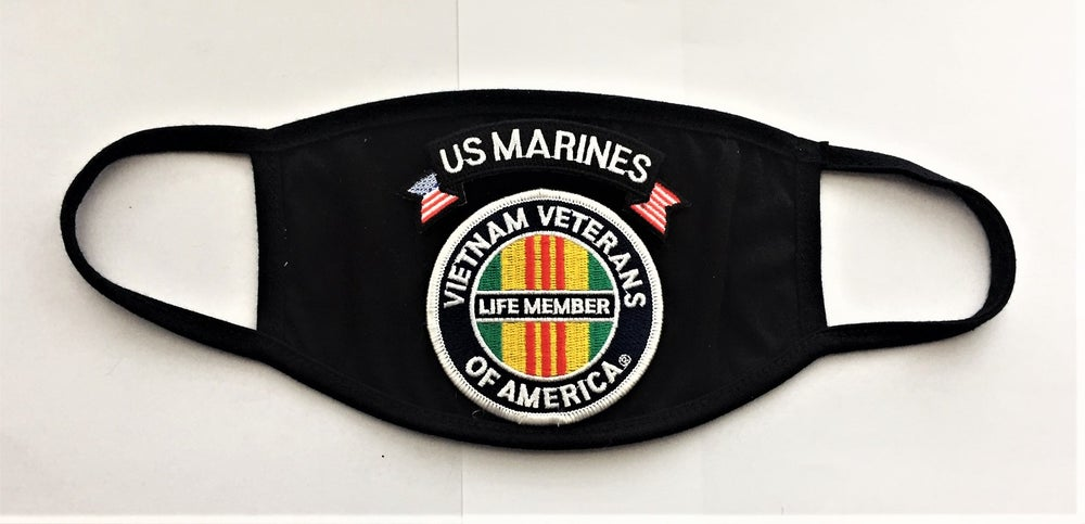 Image of Vietnam Veterans Of America Life Member US Marines Face Mask