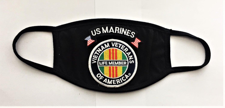 Image of Vietnam Veterans Of America Life Member US Marines Face Mask