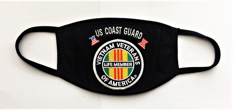 Image of Vietnam Veterans Of America Life Member US Coast Guard Face Mask