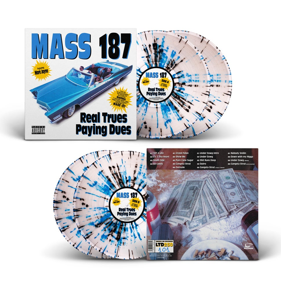 Image of Mass 187 ‎– Real Trues Paying Dues (OG Cover) Vinyl