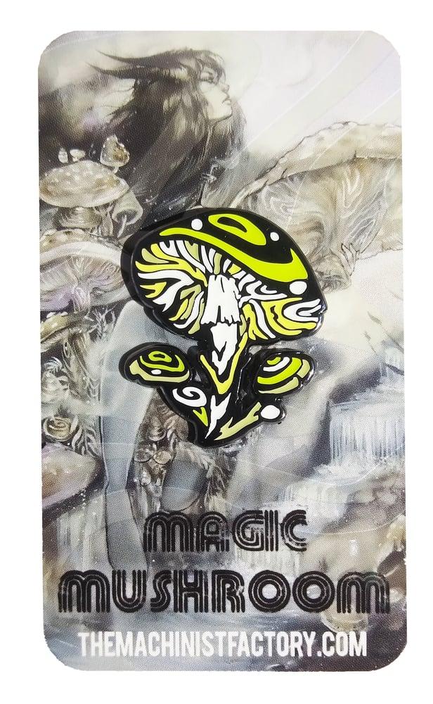 """Image of Glow-in-the-dark """"Magic Mushroom"""" Enamel Pin"""