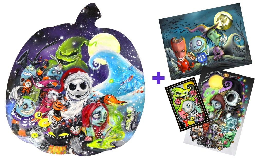"""Image of Special Edition Holographic """"Nightmare Before Xmas"""" Print Pack"""