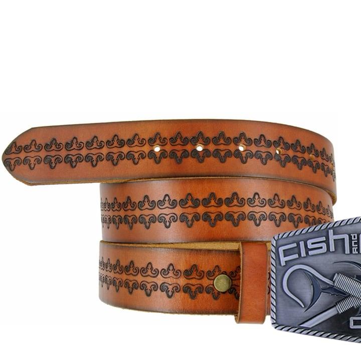 Image of ORIGINATOR GAFF® Buckle w/Genuine Full Grain Leather Belt (sized)
