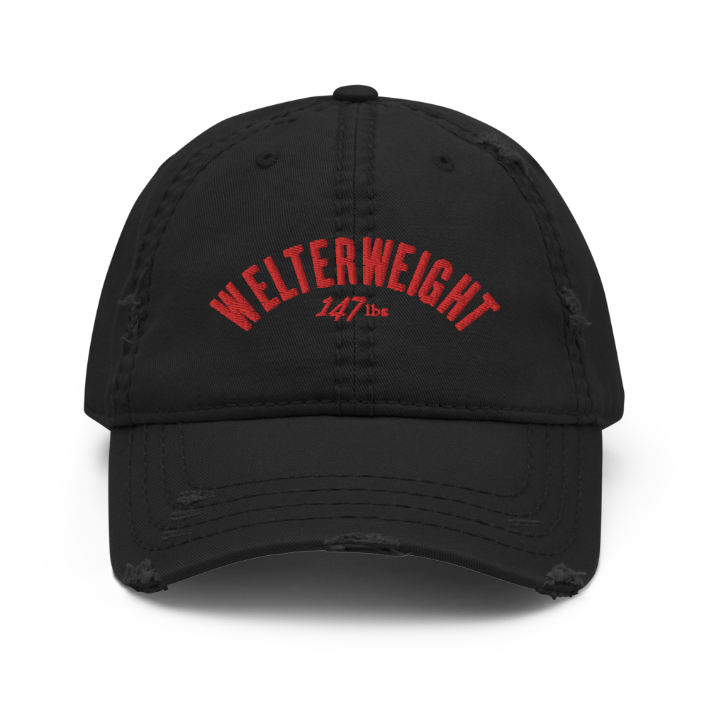 Welterweight Distressed Dad Hat (3 colors)