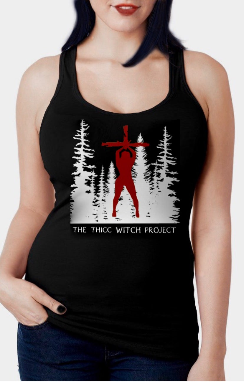 Image of Thicc Witch Project Racerback Tank Top