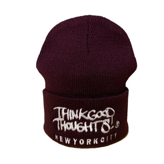 Image of Original Logo Beanie - Burgundy