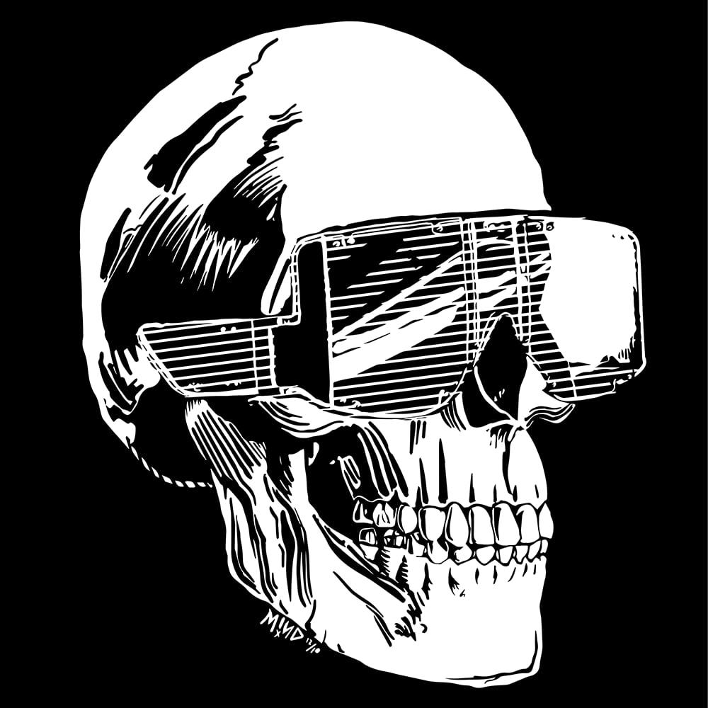 Image of Skella Cool Skull Shades shirt / Art Print