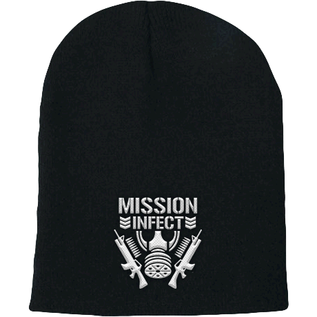 Image of MISSION : INFECT Embroidered Beanie