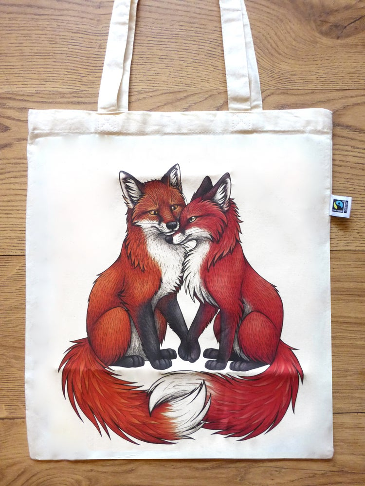 Image of Foxes Tote Bag
