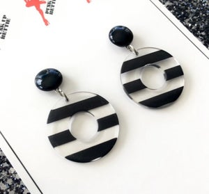 Image of SALE - Pinup Dolly Stripes Earrings
