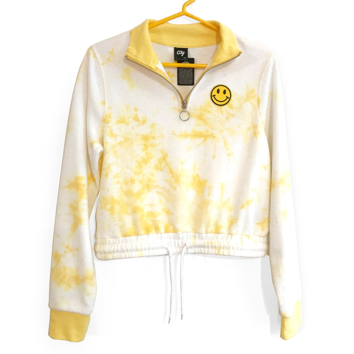 Image of Smiley Face Cropped Fleece