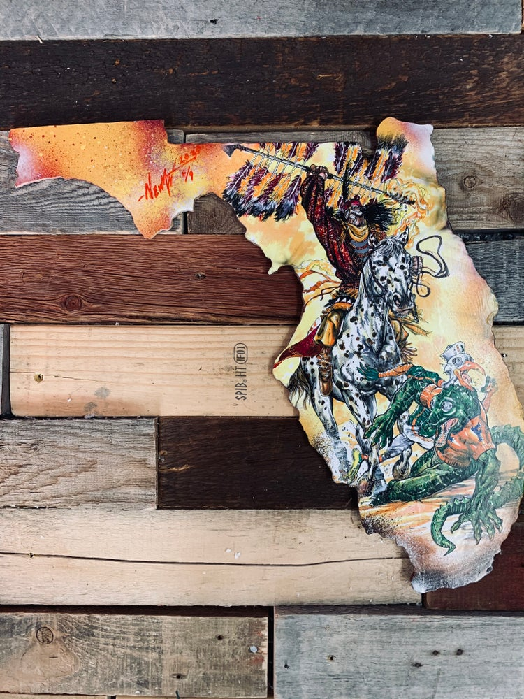 """Image of Florida States """" Renegade Rampage""""( Hand Painted Reproduction)"""