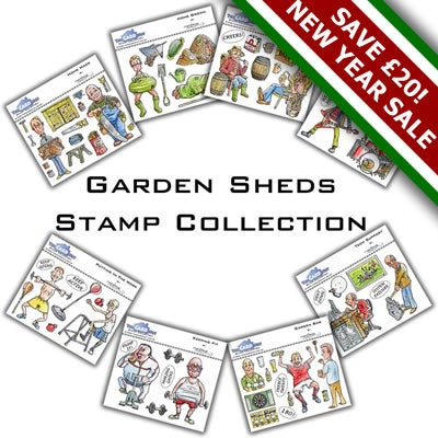 Image of Mark Bardsley Garden Sheds Stamp Collection