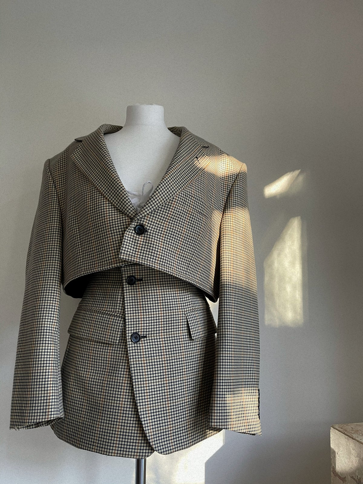 Reworked Beige Check Suit