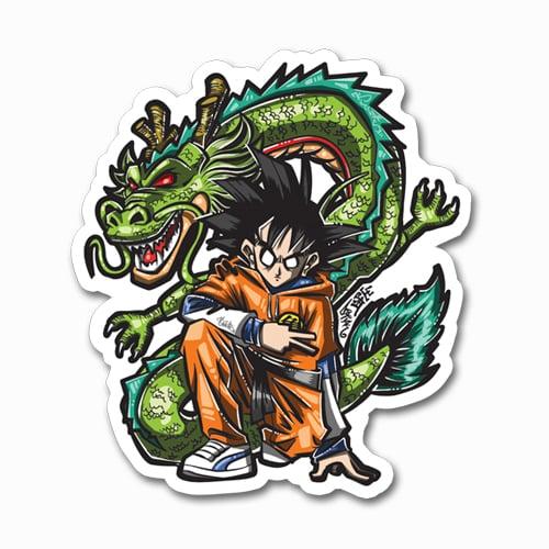 Image of Goku + Shenron Sticker