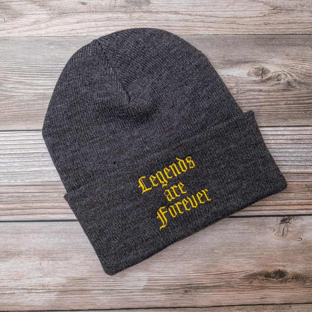 Legends are Forever Beanie in Charcoal