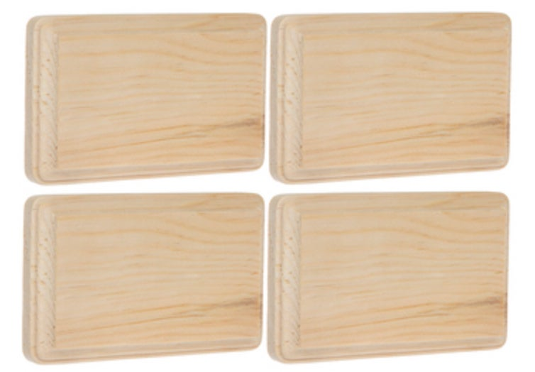 Image of Rectangle wood plaque