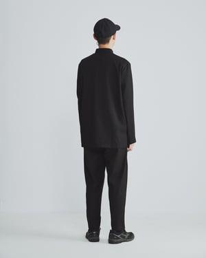 Image of TRAN - 棉麻盤釦工作襯衫 (黑)