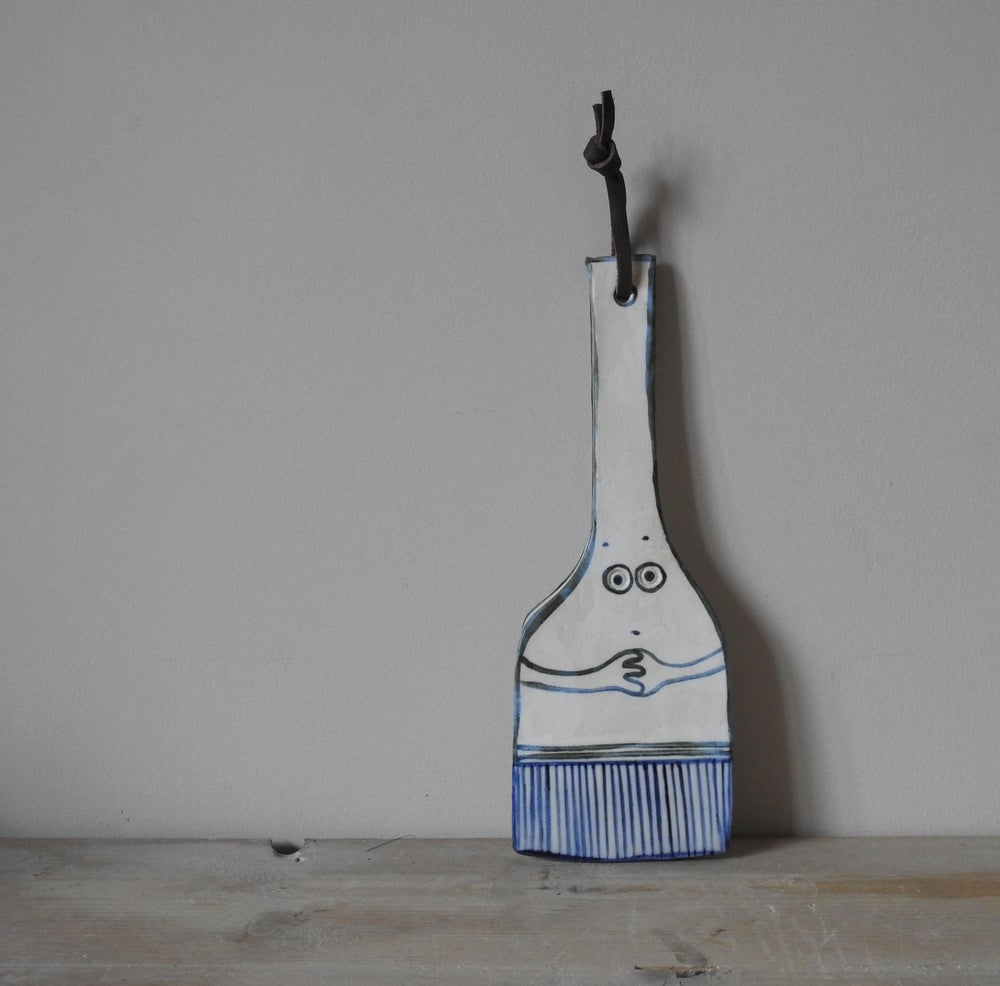 Image of Miss Paint - large porcelain wall ornament