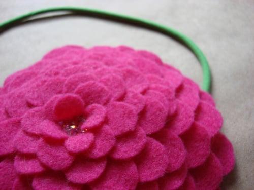 Image of crystal lush petals headband // made-to-order