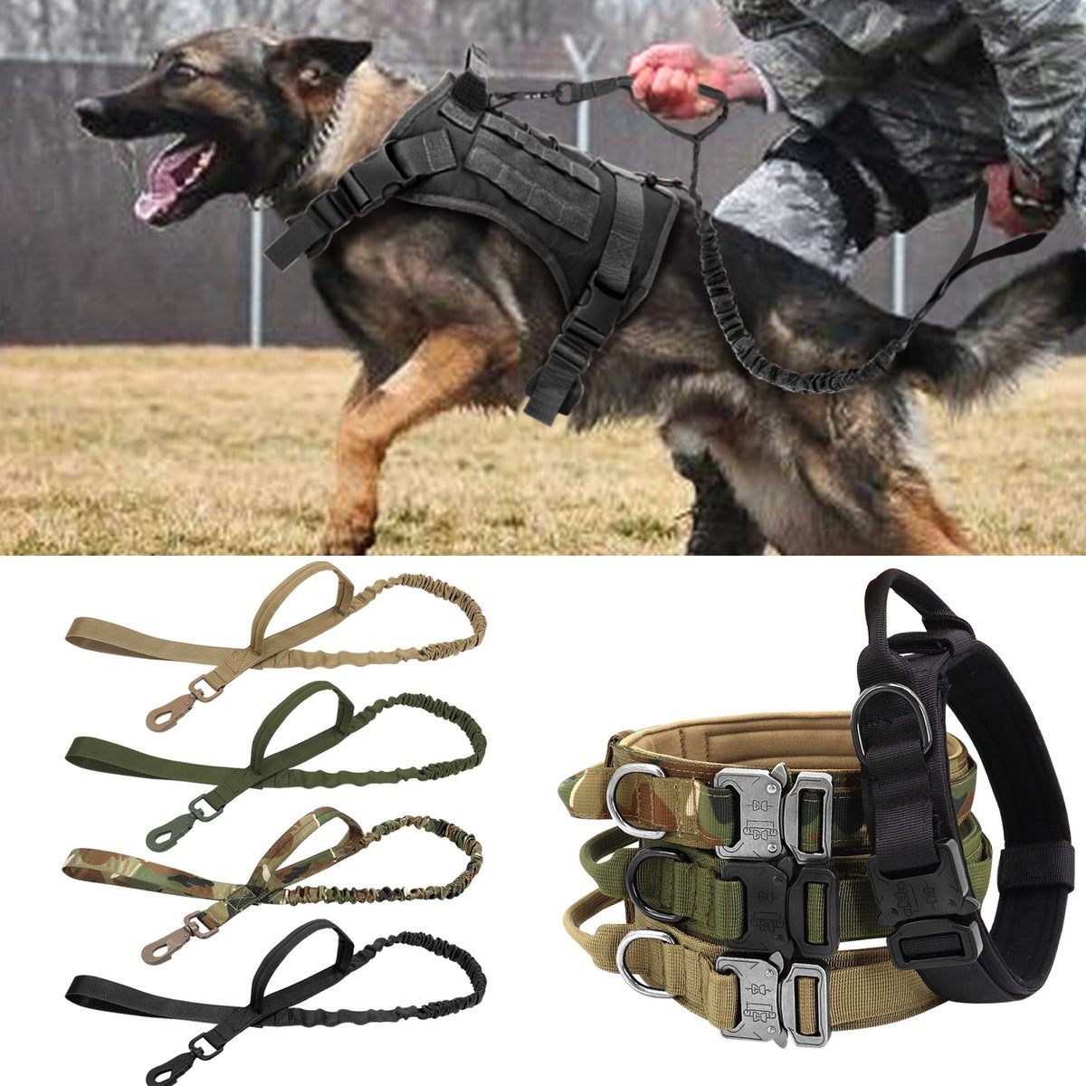 Image of KMP Dog Harness, Collar, Lead Package