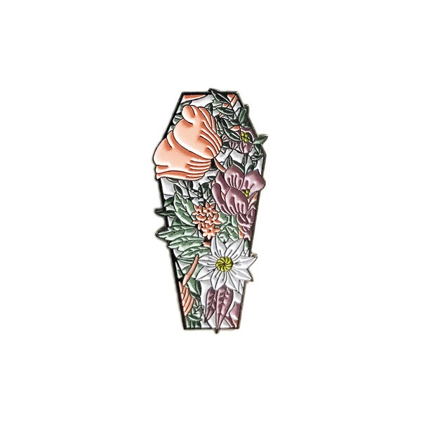 Image of Coffin Bouquet pin