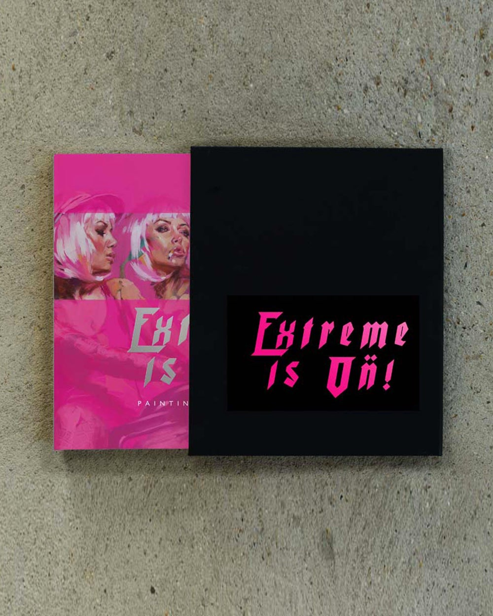 Image of 'EXTREME IS ON!' Pink Car Selfie Version First Edition Book