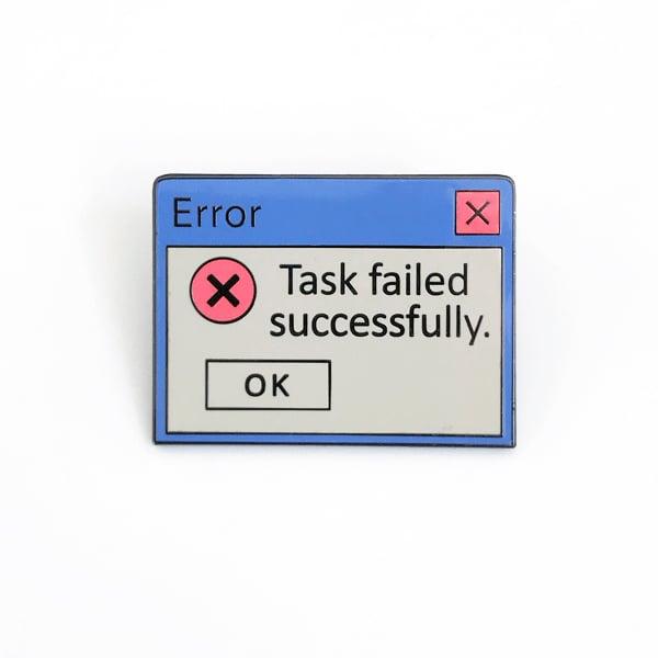 Image of Task Failed pin