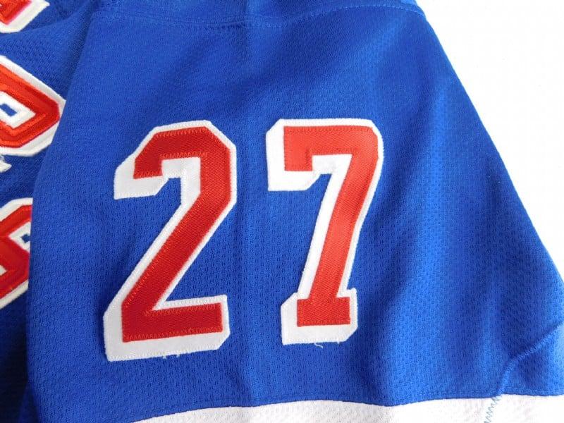 Image of NHL New York Rangers Alexei Kovalev Vintage Blue Away Starter Jersey Sz XXL