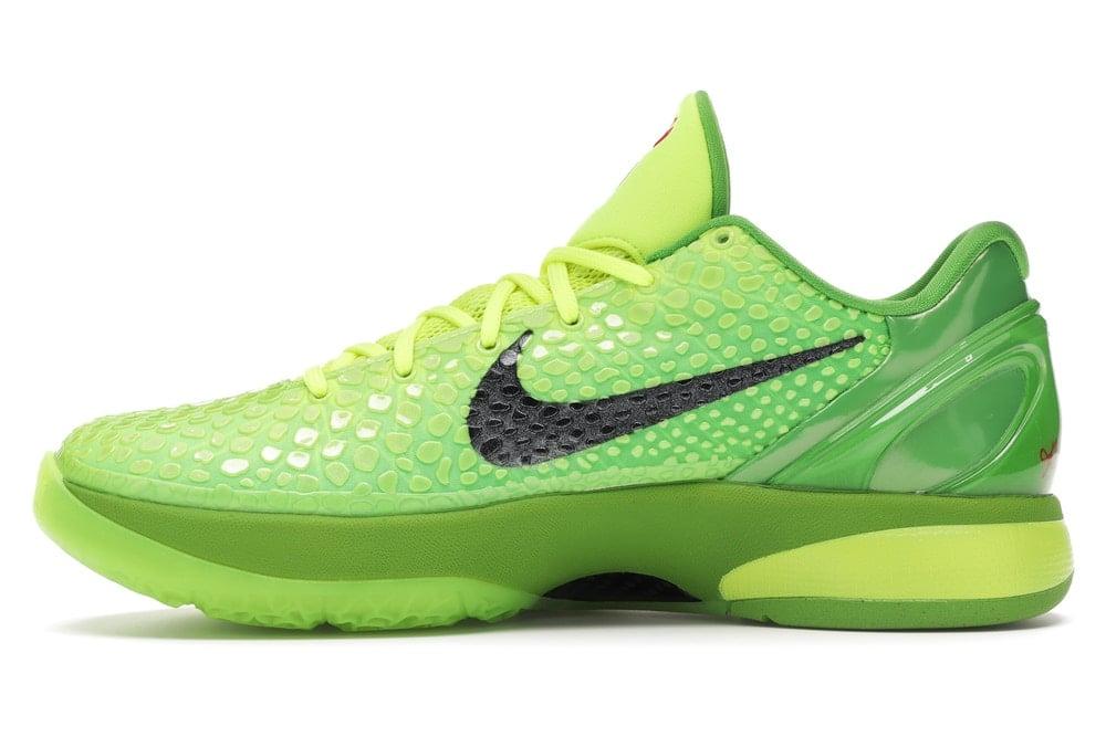 "Image of Nike Kobe 6 Protro ""Grinch"" Sz 10"