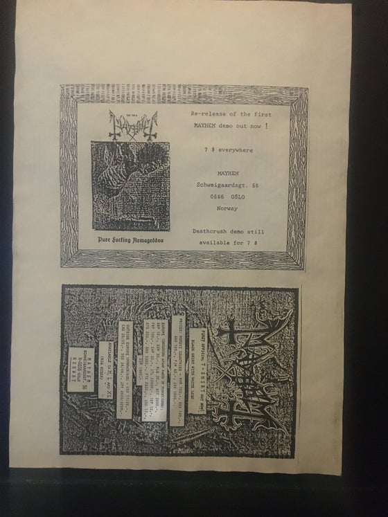 Image of Mega Rare uncut flyer!