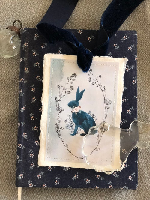 Image of Velvet ribbon and watercolour Tags