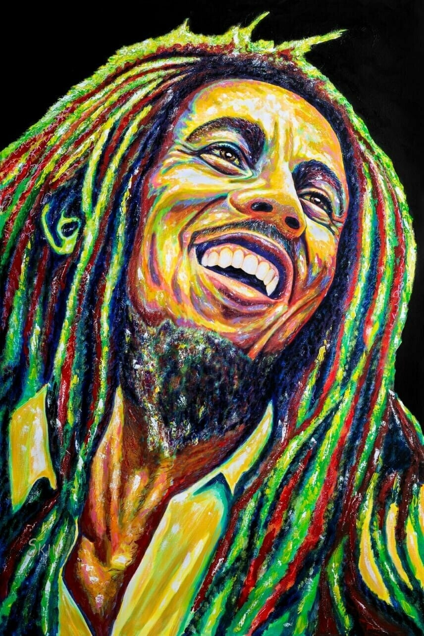 Bob Marley by Jeff Williams (Premium Canvas Prints)