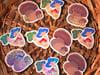 Holographic Vinyl Mushie Sticker  2 Pack