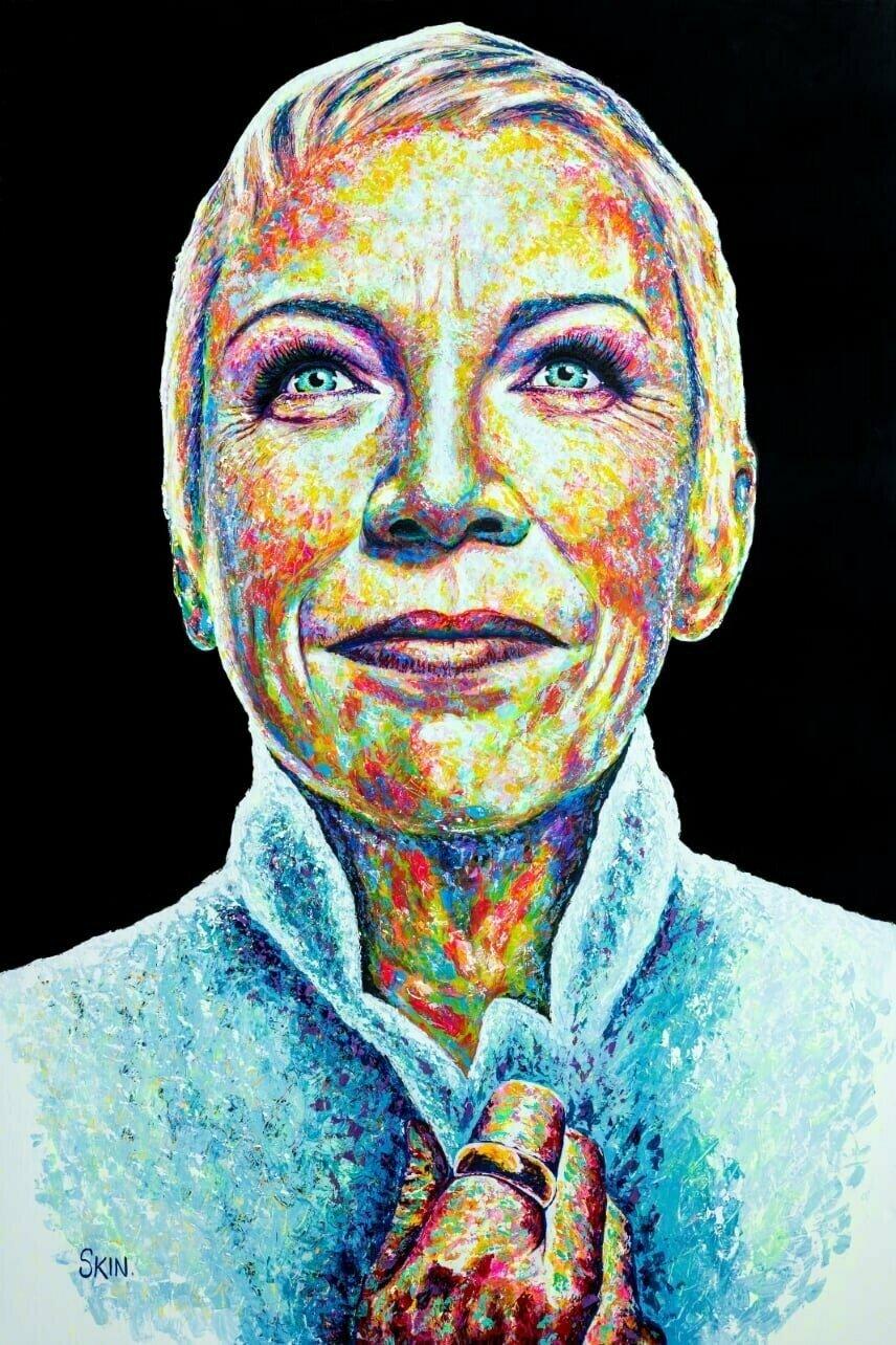 Annie Lennox by Jeff Williams (Premium Canvas Prints)