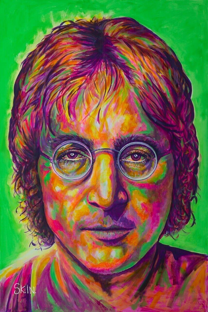 John Lennon by Jeff Williams (Premium Canvas Prints)