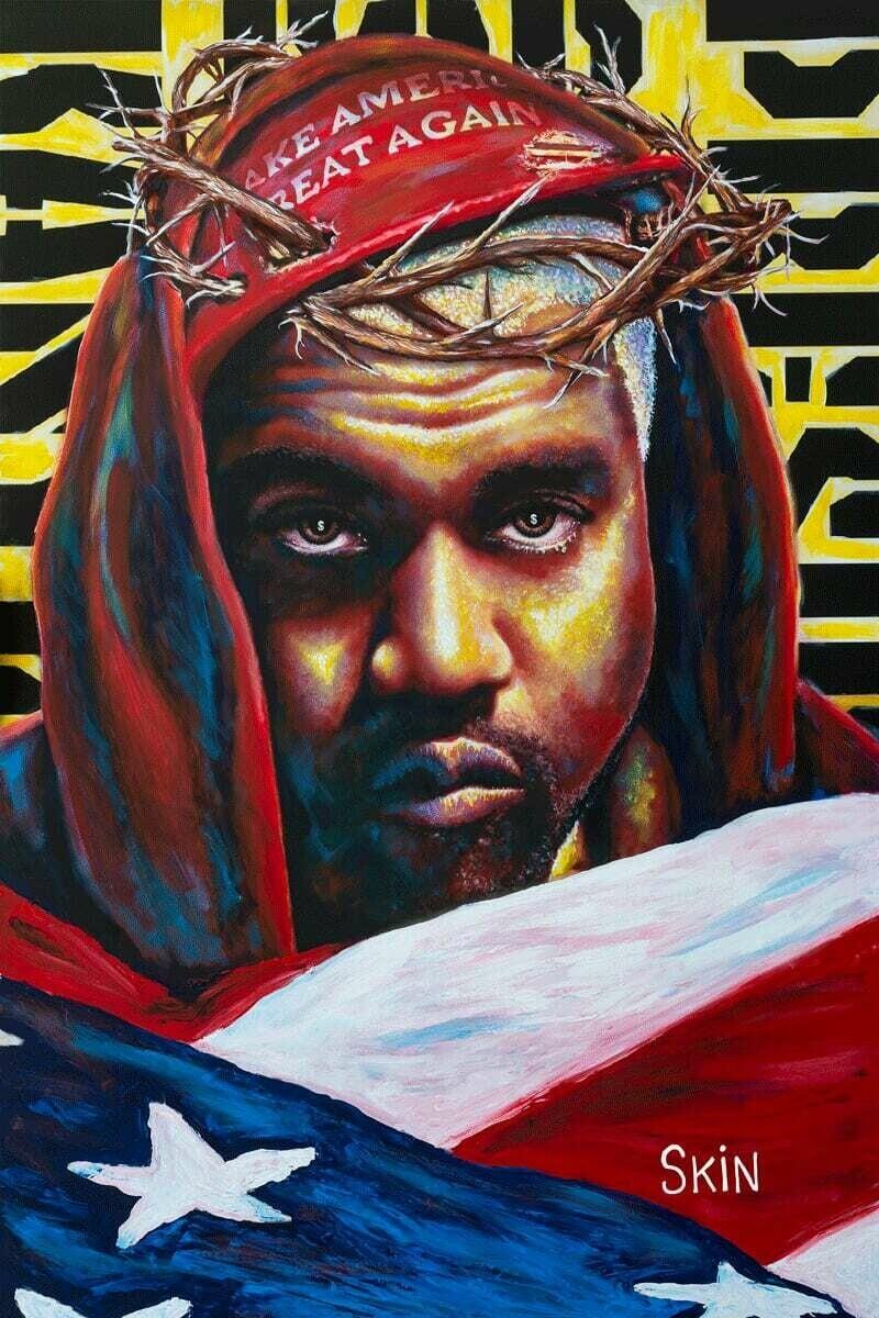 Kanye West by Jeff Williams (Premium Canvas Prints)