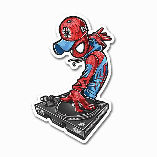 Image of DJ Spider-Man Sticker