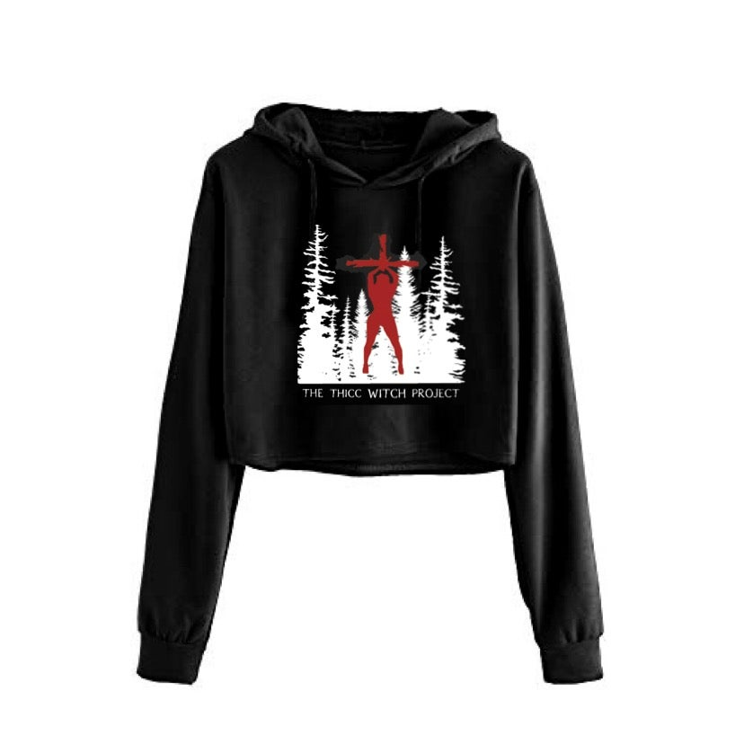 Image of Thicc Witch Project Cropped Hoodie