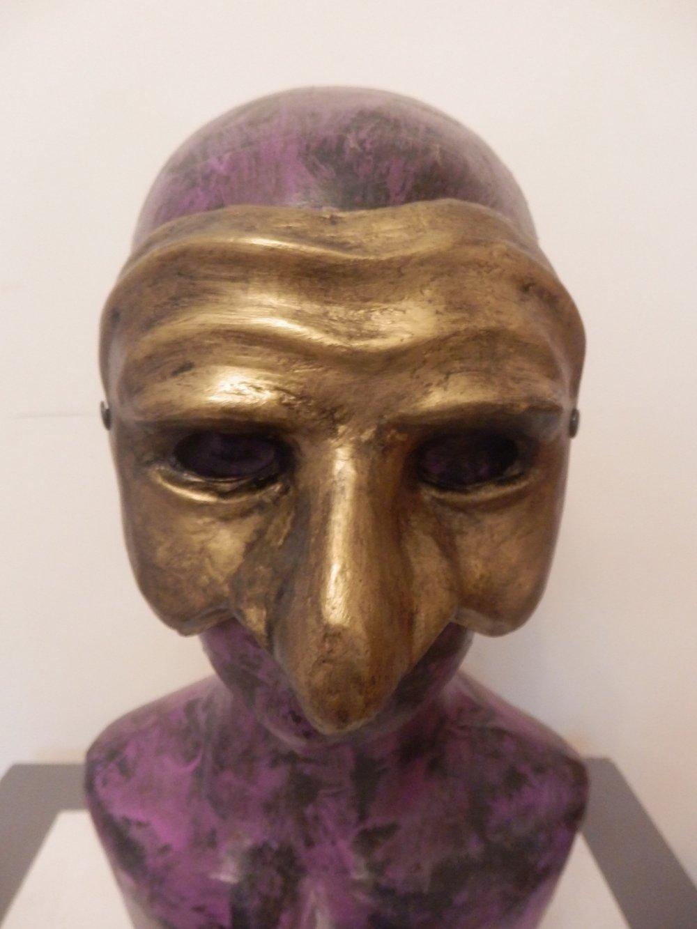 Gold Pulcinella Mask