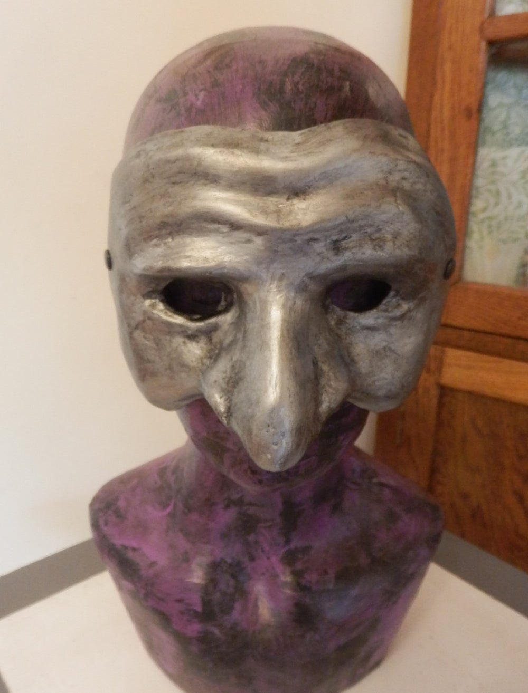 Silver Pulcinella Mask