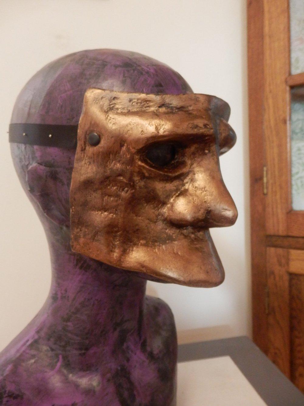 Bronze Bauta Mask