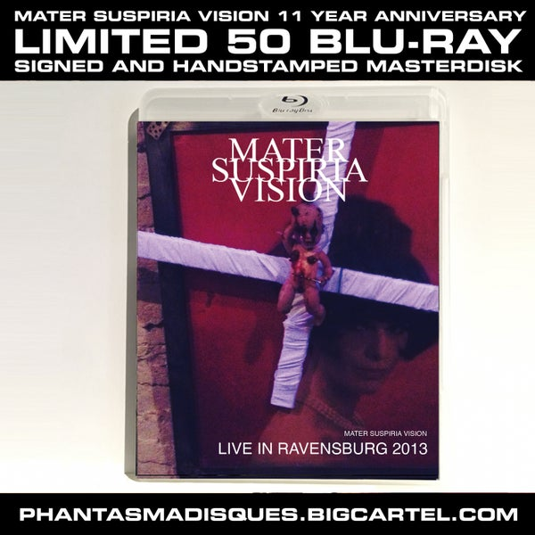 Image of [LIMITED 50] MATER SUSPIRIA VISION - LIVE IN RAVENSBURG SIGNED BLU-RAY MASTERDISK