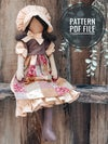 PDF sewing pattern - Holly Hobbie Doll