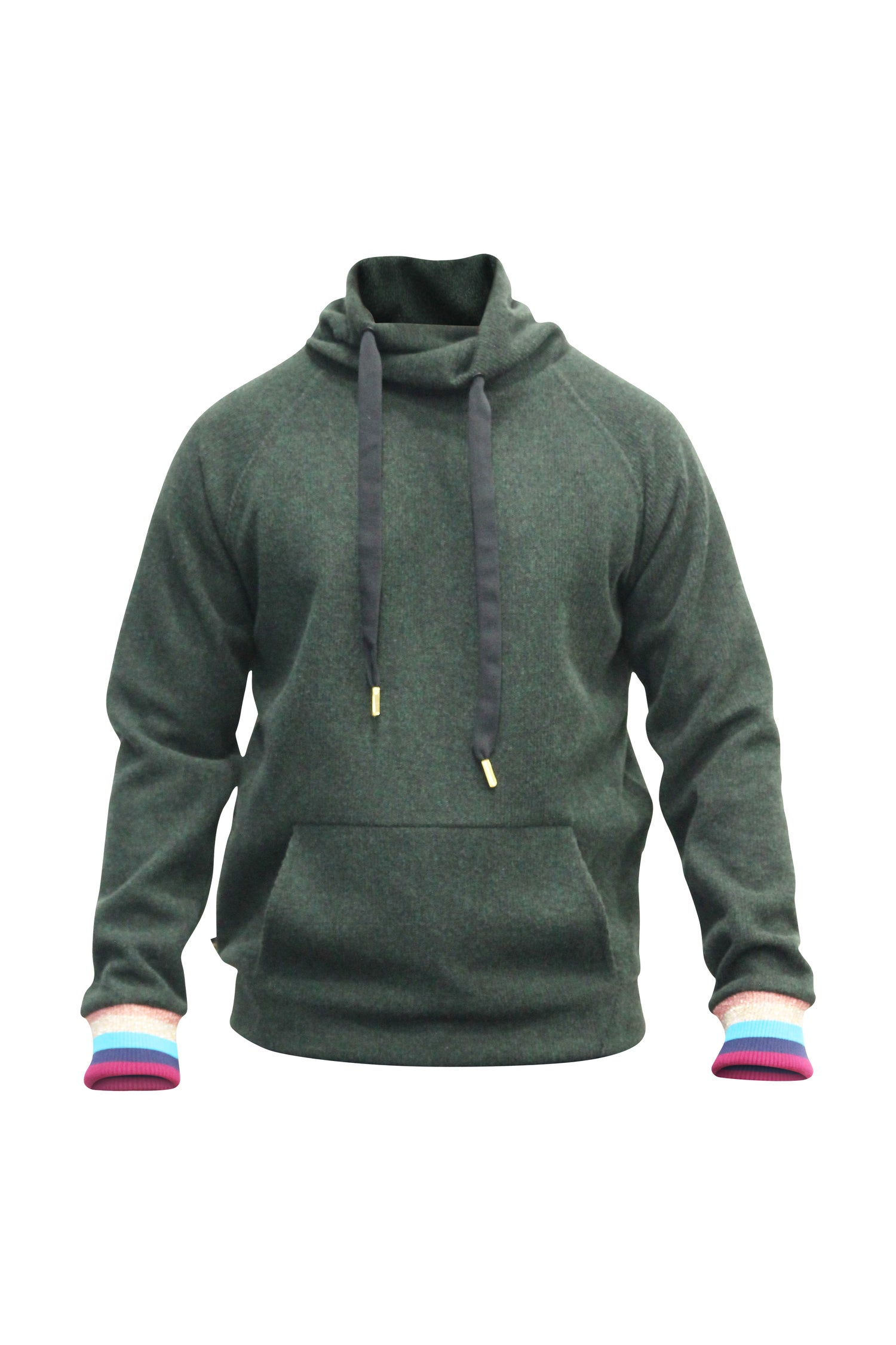 Image of Hunter Green Wool Mock Neck