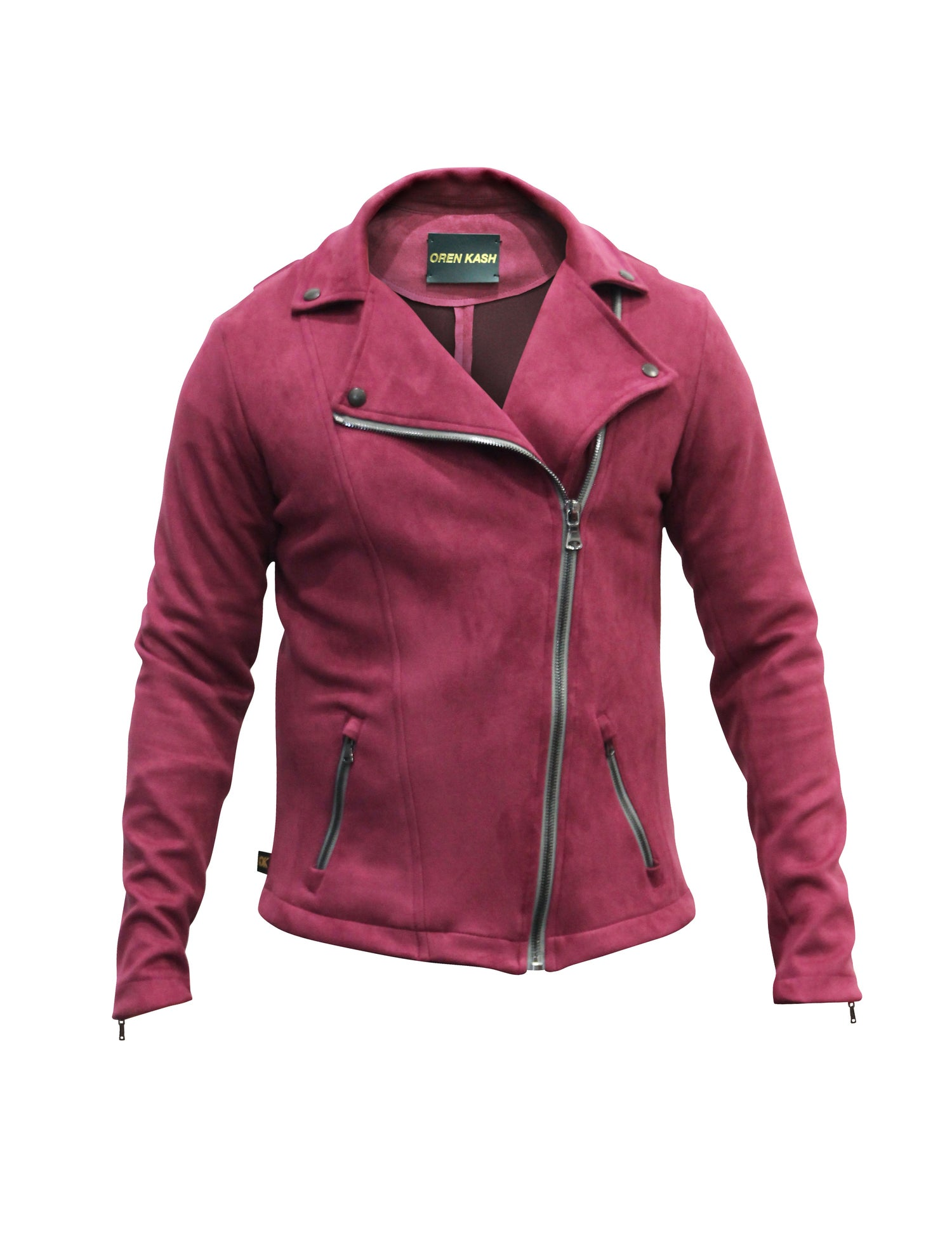 Image of Burgundy Suede Moto