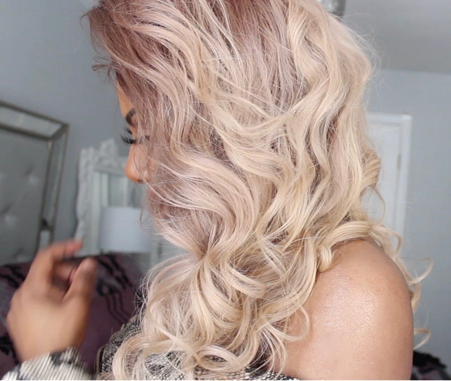 "Image of ""BLONDE GIRL SUMMER"" SHADOW ROOT COLOR MELT FULL LACE WIG"