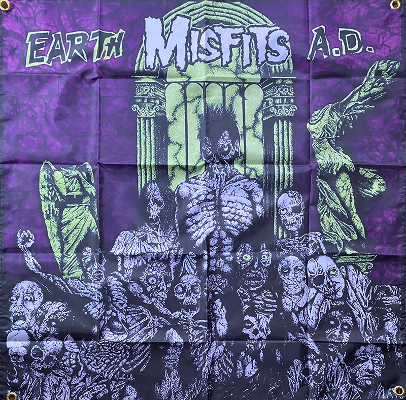 """Image of Misfits """" Earth A.d. """" Flag / Banner / Tapestry"""