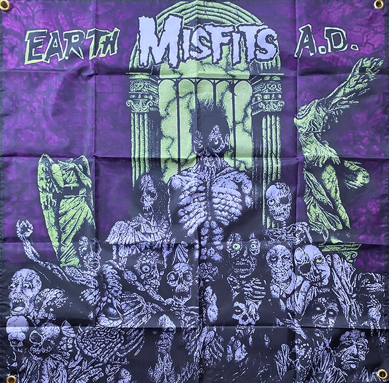 "Image of Misfits "" Earth A.d. "" Flag / Banner / Tapestry"